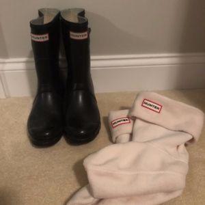 Short Black Hunter Boots with Hunter Socks